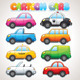 Cute Cartoon Cars. Colorful Vector Clip art - GraphicRiver Item for Sale