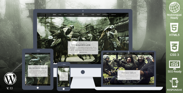 Samurai Responsive WordPress Theme - Photography Creative