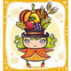 Cute Harvest girl - GraphicRiver Item for Sale