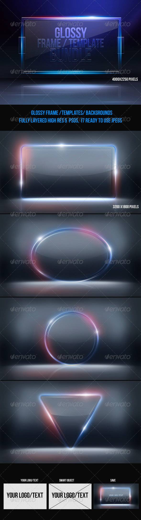 GraphicRiver Glossy Frame Template Bundle 6685423