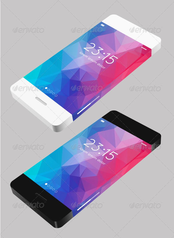 GraphicRiver Vector Template Phone in Flat Style 6685480