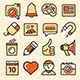 Outlined Media Icons Set - GraphicRiver Item for Sale