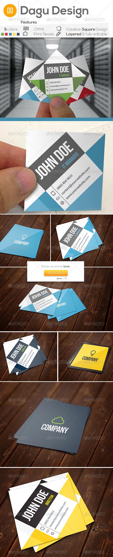 GraphicRiver Square business cards set 6674590