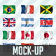 210 Flags MockUp in High Resolution - GraphicRiver Item for Sale