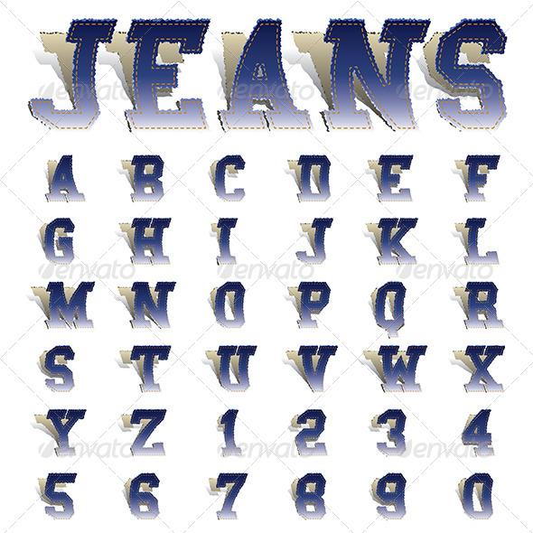 GraphicRiver Jeans Font 6688667