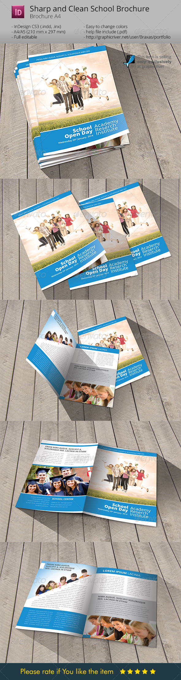 GraphicRiver School Welcome Brochure Template 6688706
