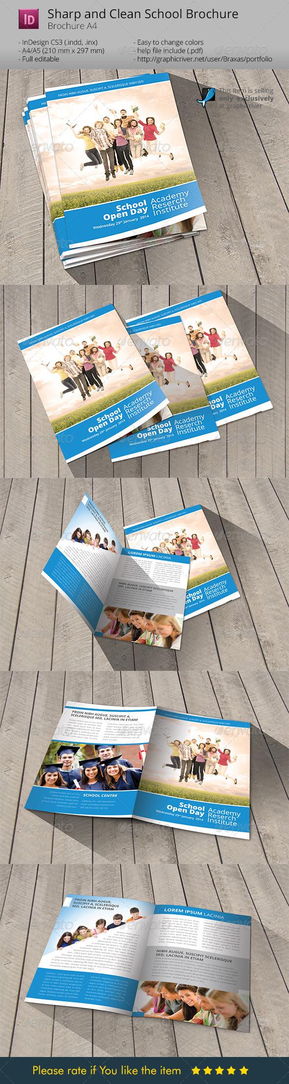 GraphicRiver School Welcome Brochure Template 6688706