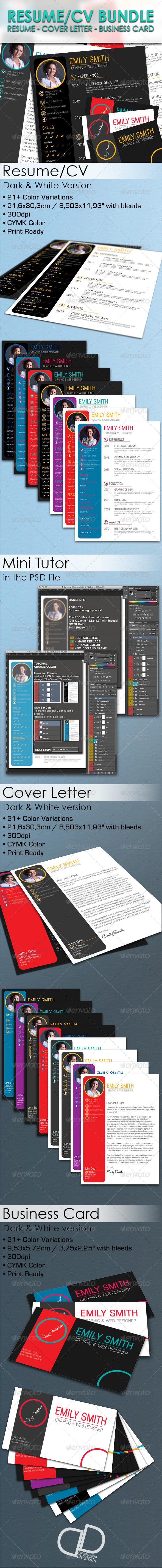 GraphicRiver Resume CV Bundle 6688795