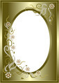 Abstract  Golden  Floral  Frame.  - PhotoDune Item for Sale