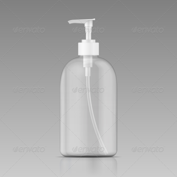 GraphicRiver Clean Liquid Soap Bottle 6689588