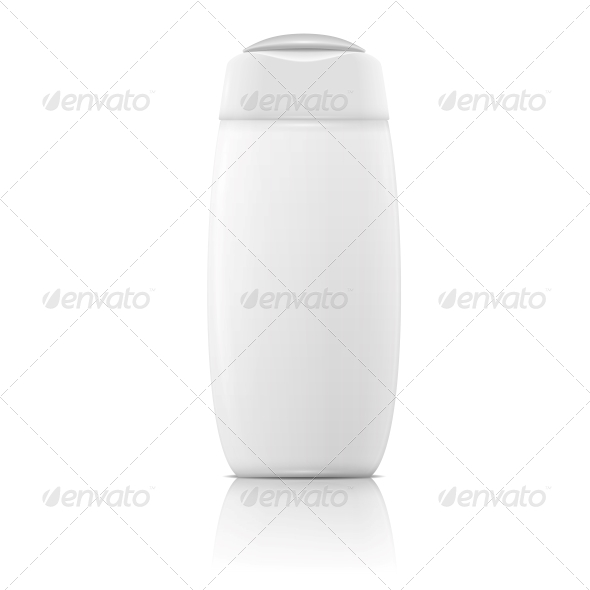 GraphicRiver White Shampoo Bottle Template 6689607