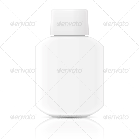 GraphicRiver White Lotion Bottle Template 6689612