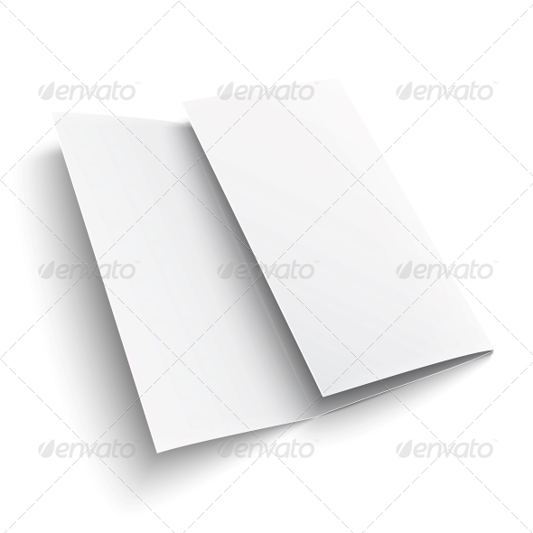 GraphicRiver Blank Trifold Paper Brochure 6689614