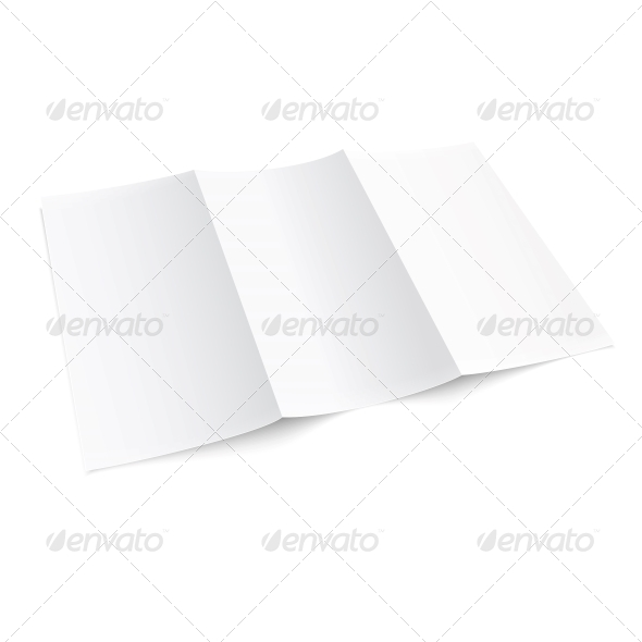 GraphicRiver Blank Trifold Paper Brochure 6689616