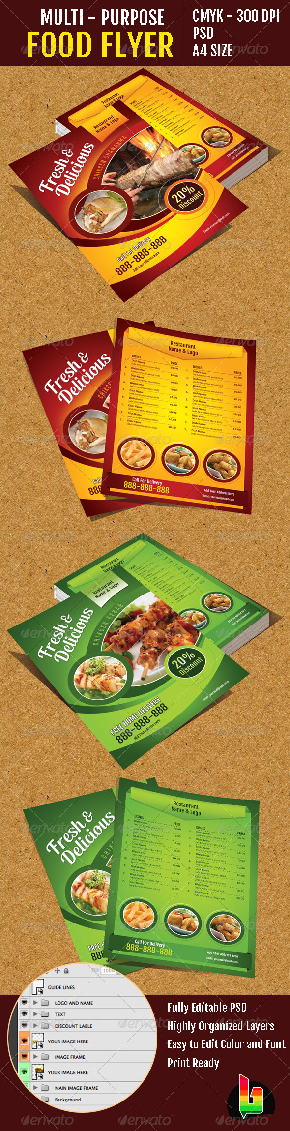 GraphicRiver Multi-Purpose Food Flyer 6689911
