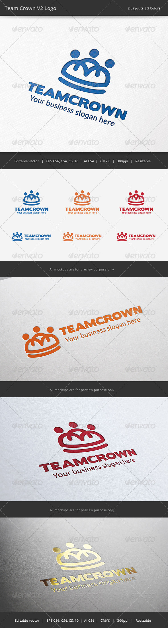 GraphicRiver Team Crown V2 Logo 6689951