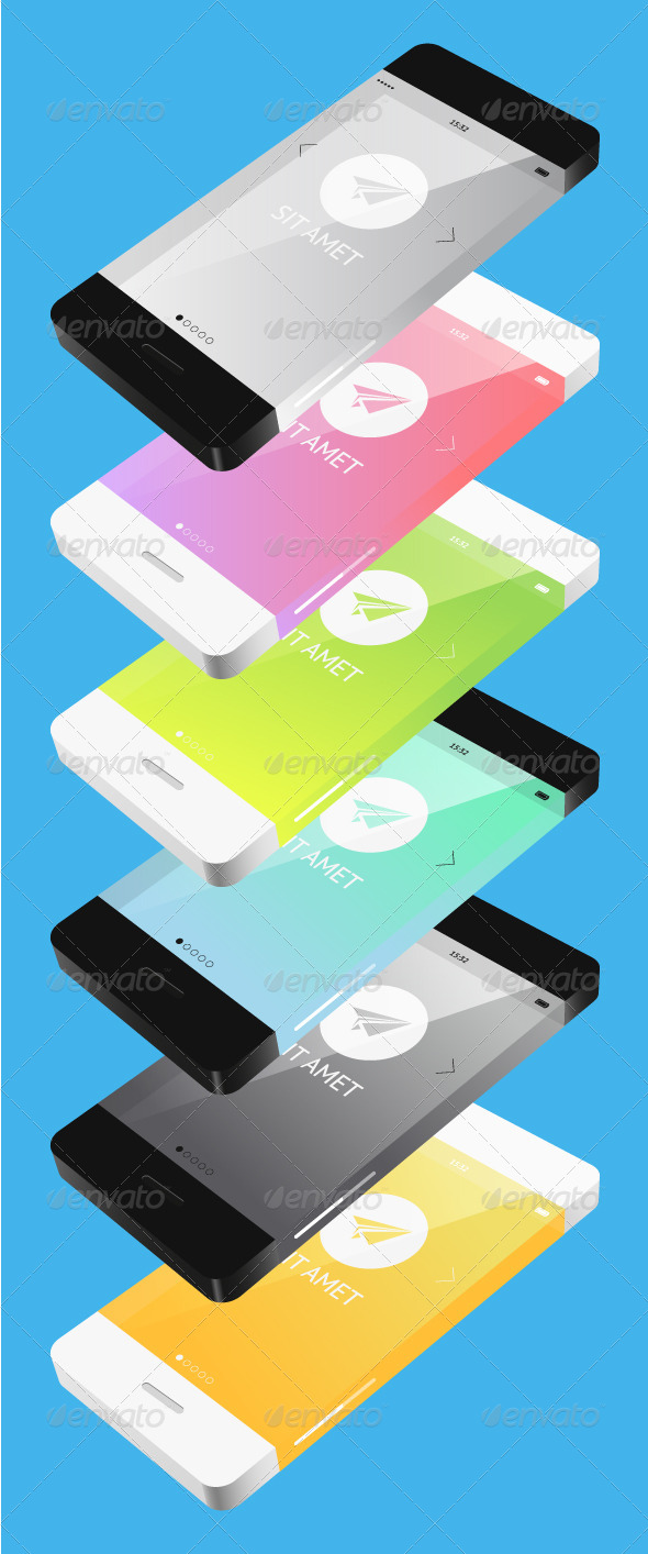 GraphicRiver Phone in Flat Style 6691224