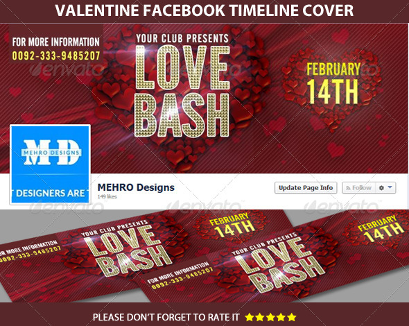 GraphicRiver Valentine Facebook Timeline Cover 6691259
