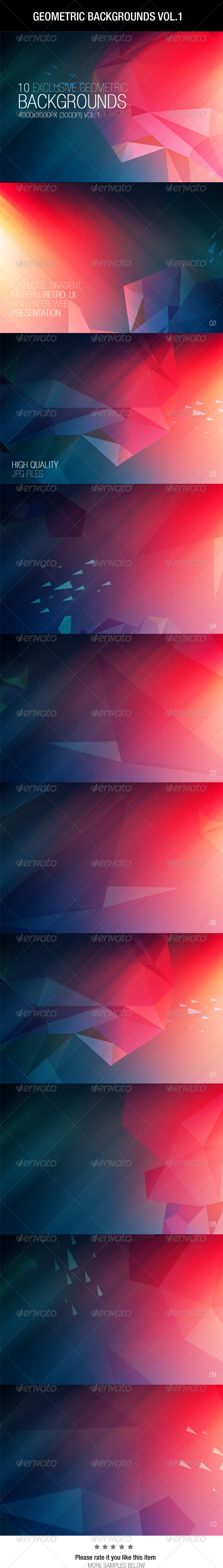 GraphicRiver Geometric Backgrounds Vol.1 6642425