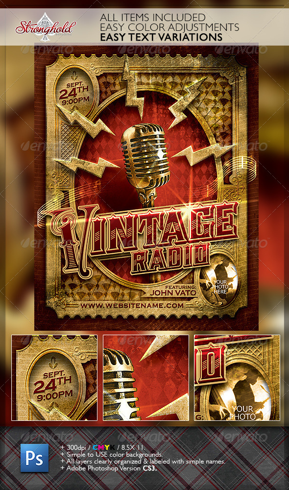GraphicRiver Vintage Jazz Music Event Flyer Template 6691345