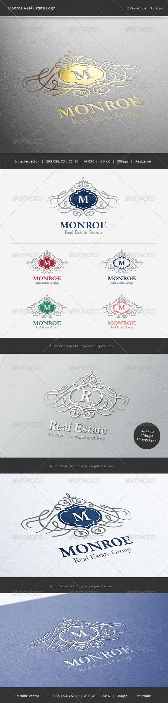 GraphicRiver Monroe Letter Crest Logo 6692514