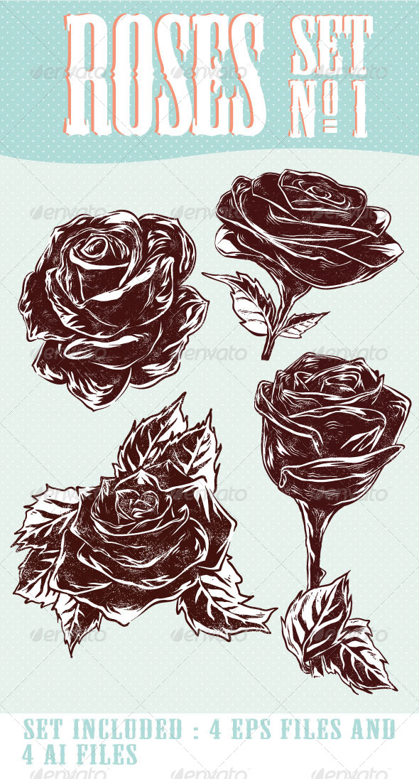 GraphicRiver Roses Set Nr 1 6692897
