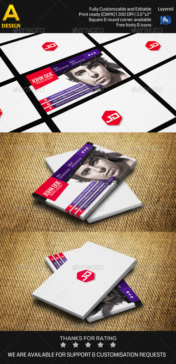 GraphicRiver Personal Business Card AN0198 6693052