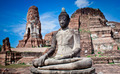 Statue of Buddha at Wat Mahatat, Ayutthaya Thailand. - PhotoDune Item for Sale