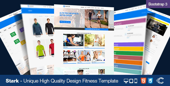 ThemeForest Stark Health & Fitness HTML5 Responsive Template 6694412