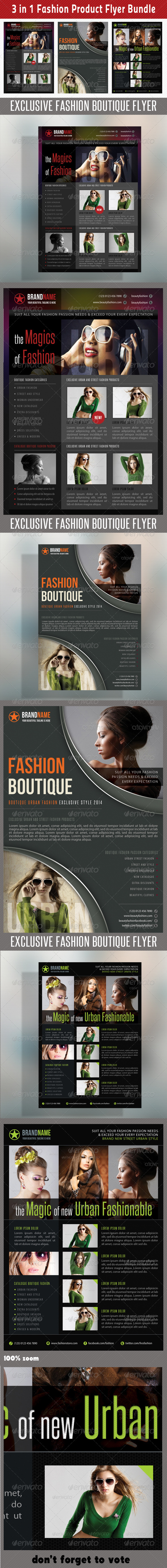 GraphicRiver 3 in 1 Fashion Product Flyer Bundle 11 6695419