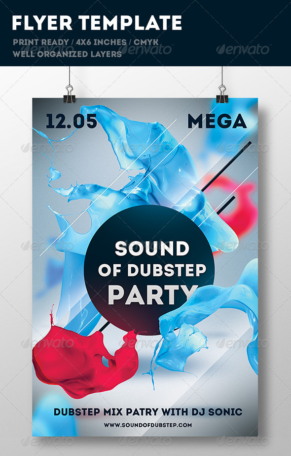 GraphicRiver Party Flyer Print Template 6696011