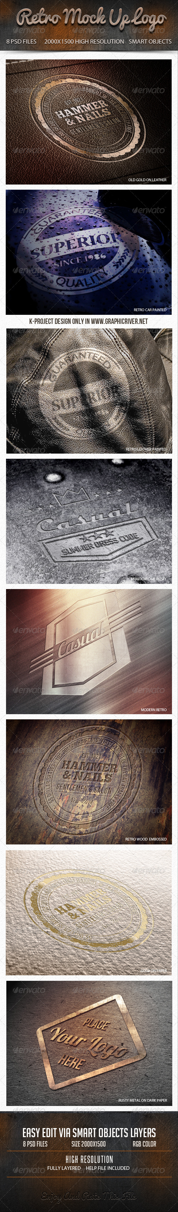 GraphicRiver Retro Mock Up Logo 6696404