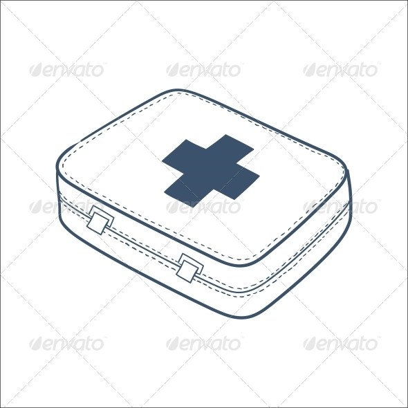 GraphicRiver First Aid Kit Isolated on hite 6696422