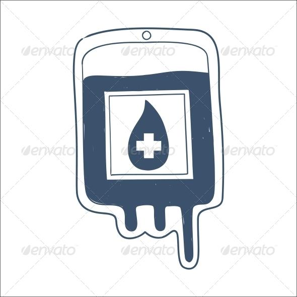 GraphicRiver Blood Bag 6696536