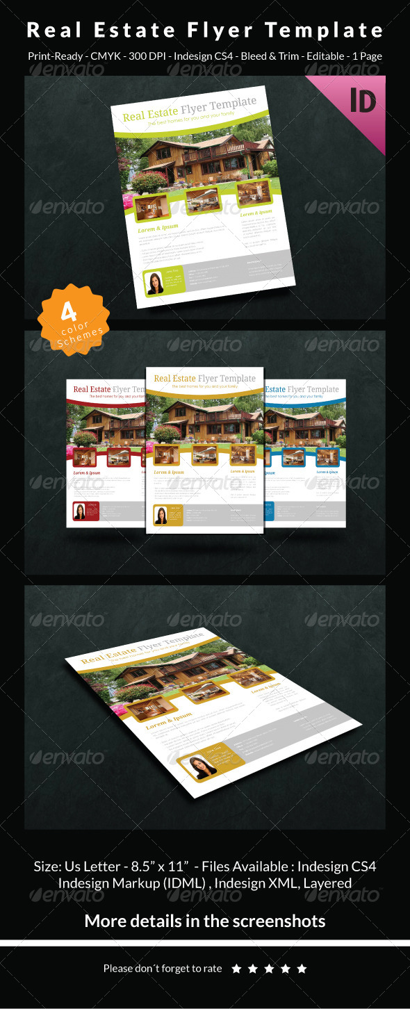 GraphicRiver Real Estate Flyer Template 6696817
