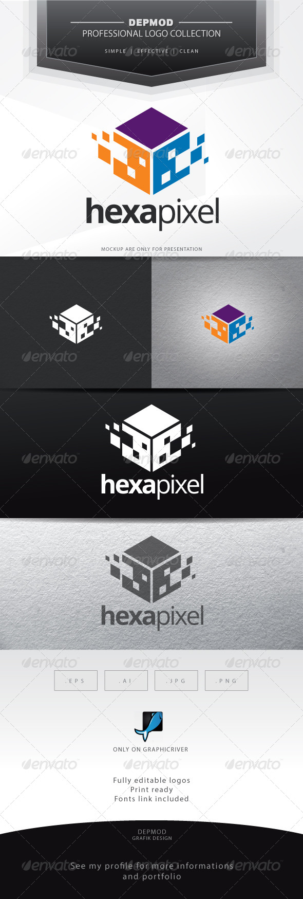 GraphicRiver Hexa Pixel Logo 6696818