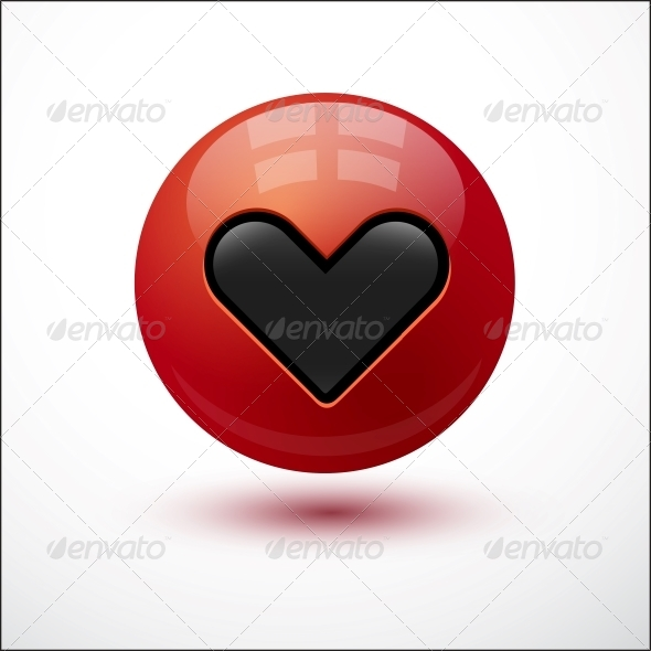GraphicRiver Heart on Red Bubble 6697028