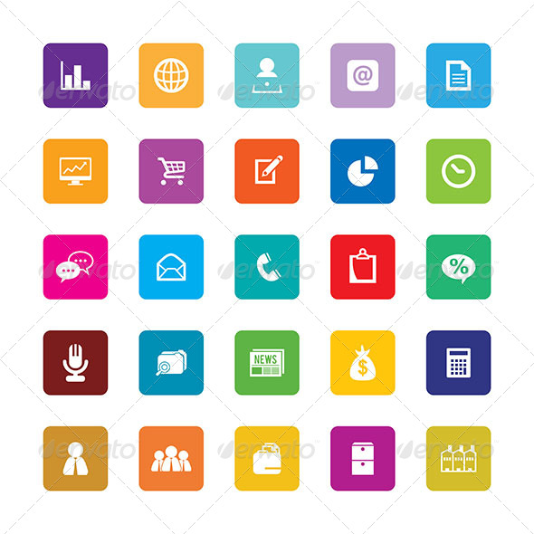 GraphicRiver Business Icons 6697044