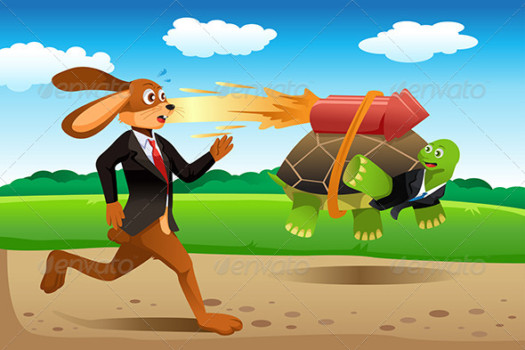 GraphicRiver Tortoise and Hare Racing 6698258