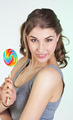 Teenager girl with lollipop - PhotoDune Item for Sale