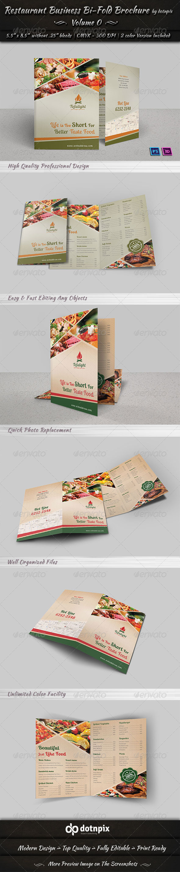 GraphicRiver Restaurant Business Bi-fold Brochure Volume 2 6683696