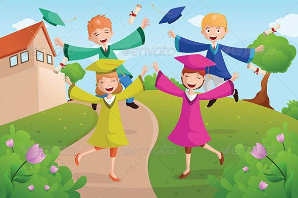 GraphicRiver College Students Celebrating Graduation 6699243