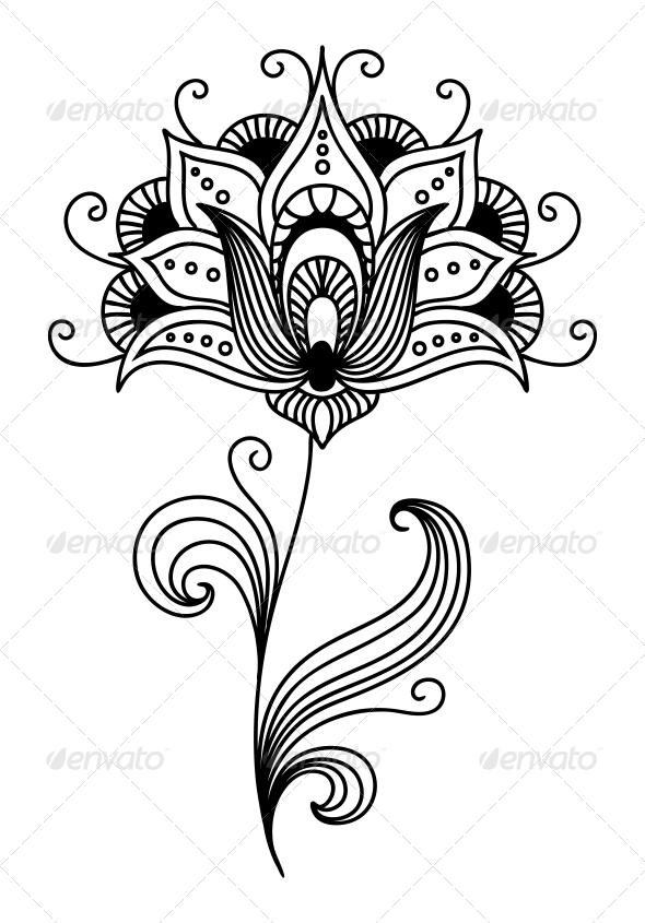 GraphicRiver Ornate Persian Floral Design 6700518