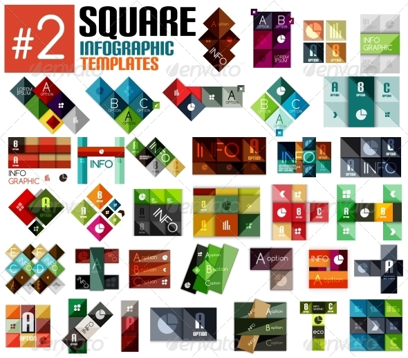 GraphicRiver Huge set of Square Infographic Templates #2 6701095