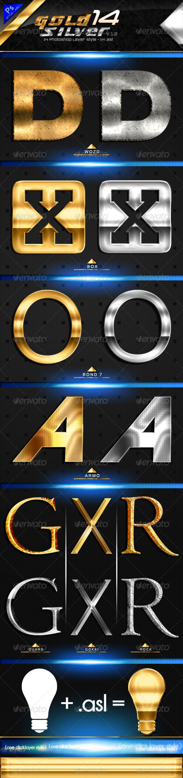 GraphicRiver Gold & Silver Text Style Premium 6683695