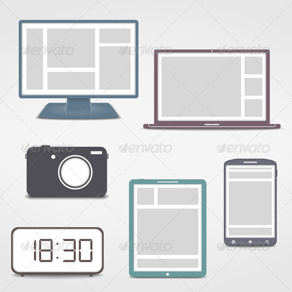 GraphicRiver Electronics Icons 6701688