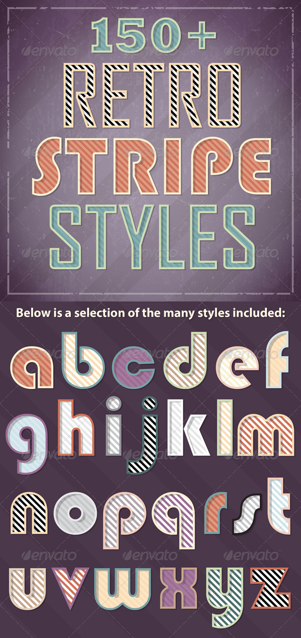 GraphicRiver Retro Stripe Styles 6684555
