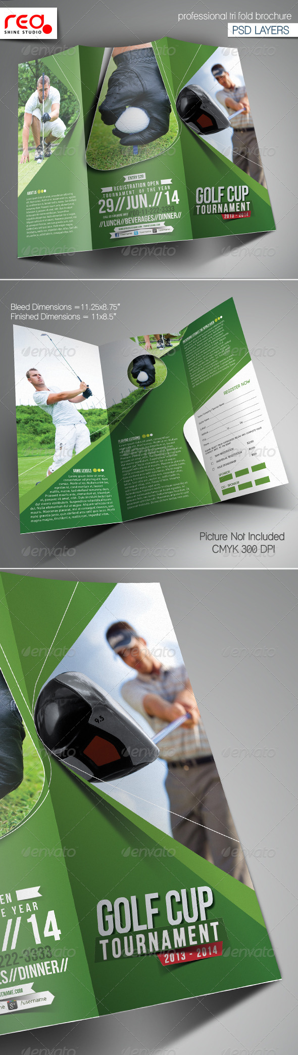 GraphicRiver Golf Event Trifold Brochure Template 6702689