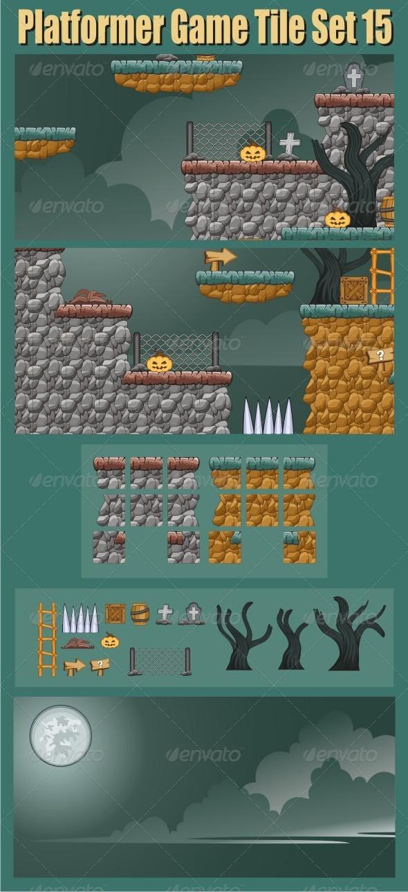 GraphicRiver Platformer Game Tile Set 15 6703098