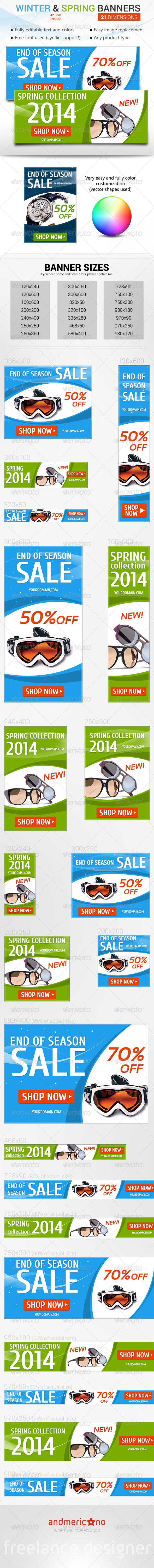 GraphicRiver Winter Sale & Spring New Collection 6689930